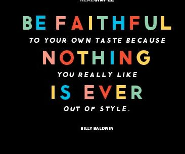Be Faithful to Your Own Style!!